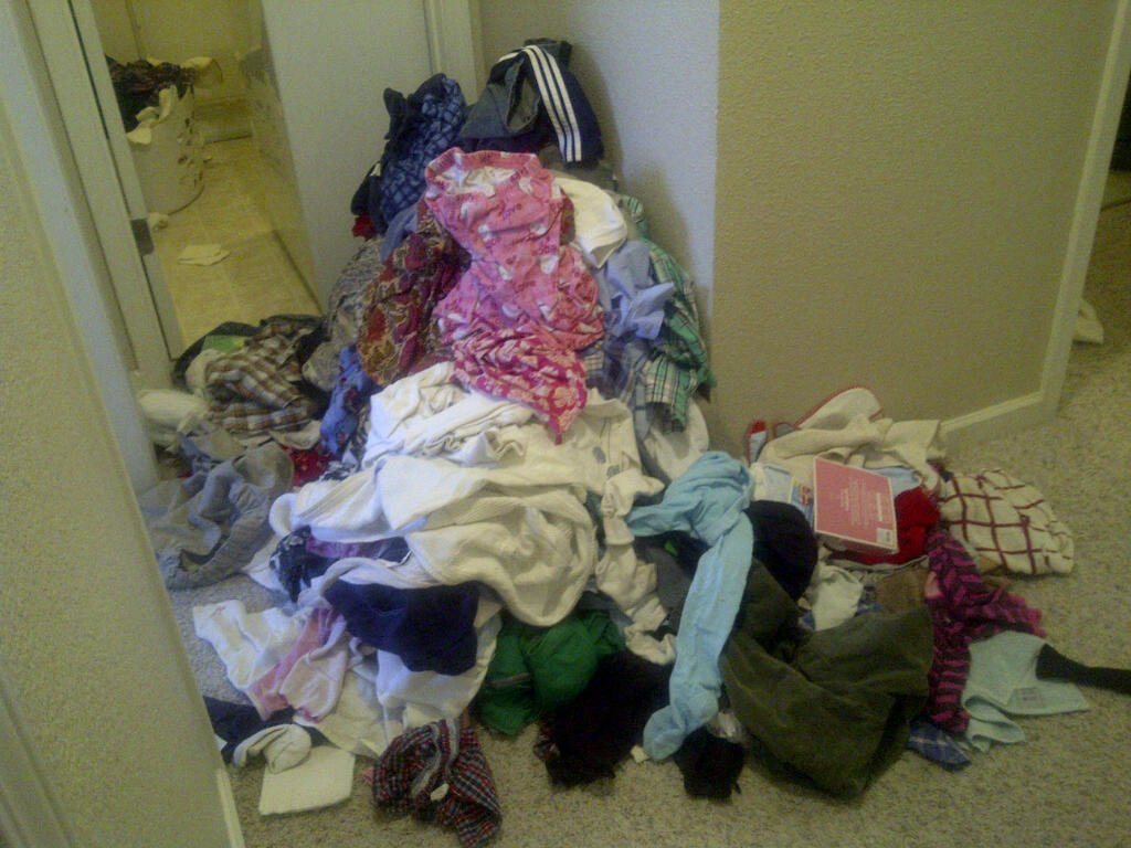 this is my laundry pile