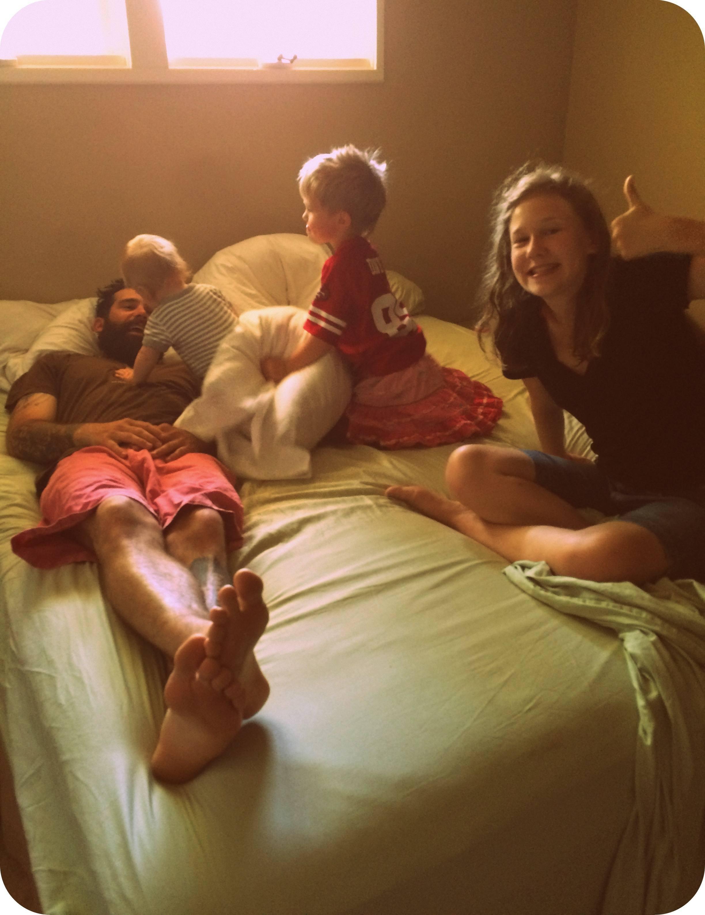 I am unwavering however in my devotion to making my bed each morning. ha. ha. ha.